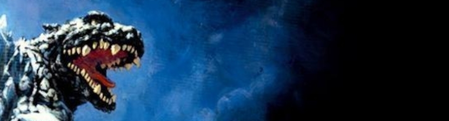 Banner image: A screaming low-res Godzilla.