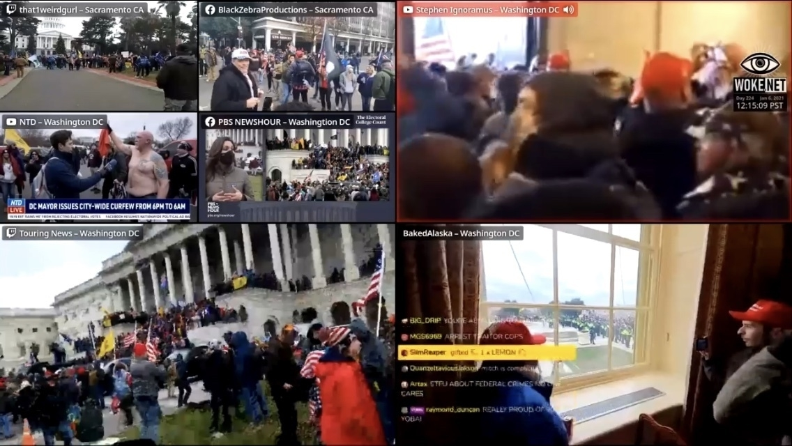 A collection of news feeds from the chaotic US Capital