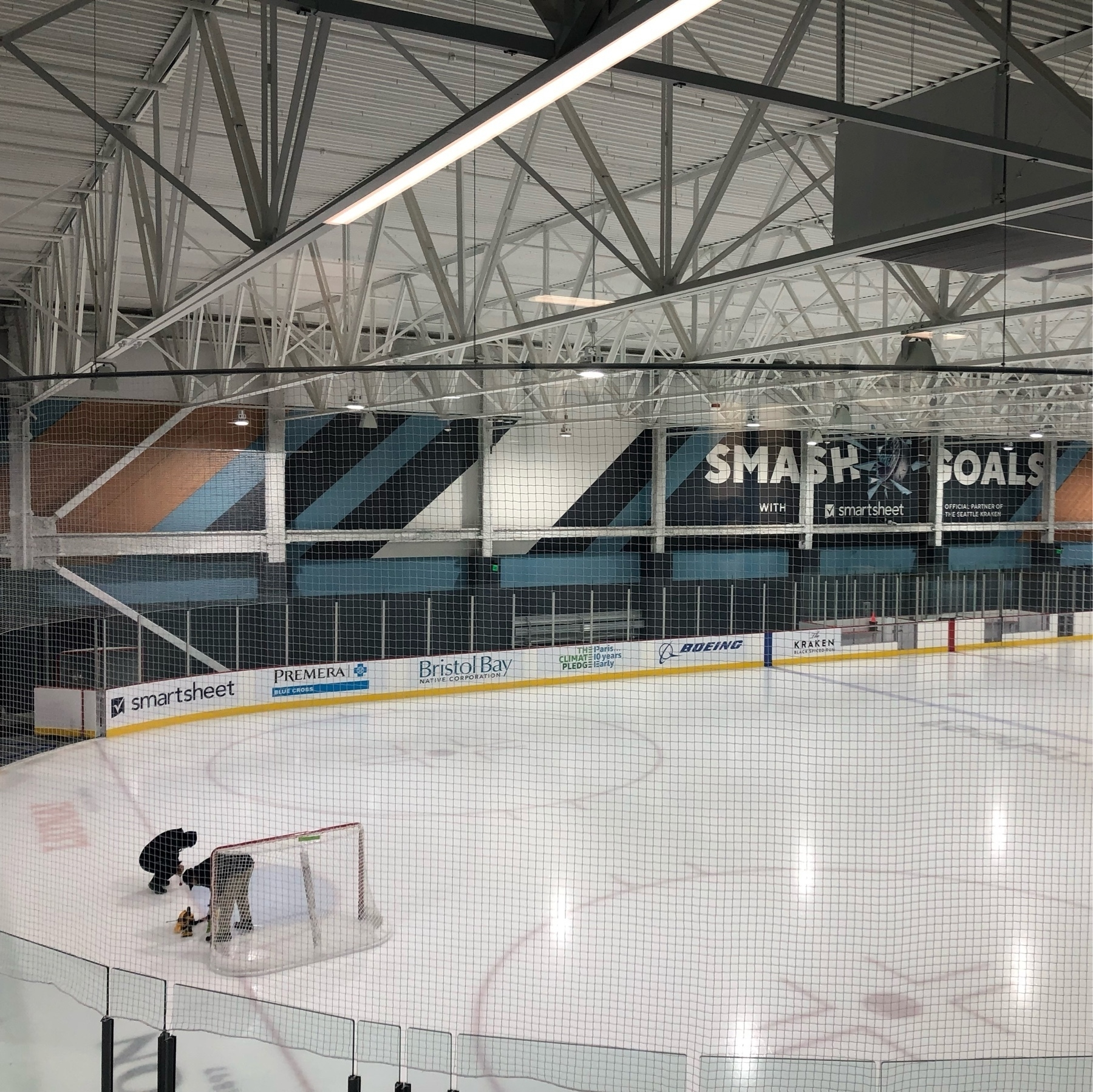A brand new ice rink